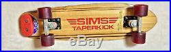 70s Vintage Sims Taperkick Skateboard, Bennett Pro, Pure Juice, Great Condition