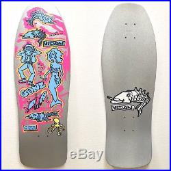 NOS Vintage Mark Gonzales Vision Skateboards Repro Gonz n Roses Color my Friends