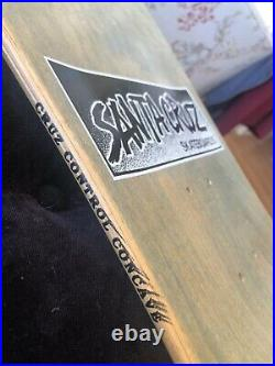 OG NOS 1990 Tom Knox discord vintage skateboard deck Santa Cruz minor threat