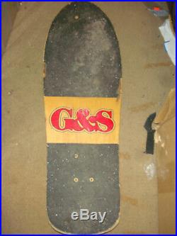 RARE 80'S GORDON AND SMITH CHRIS MILLER PRO SKATE DECK G&S skateboard