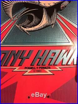 Used 1983Powell PeraltaTony HawkSignedSkateboard Deck! Vintage