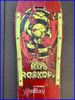 Vintage 1985 Santa Cruz Skateboards Rob Roskopp Target III OG Full-size RED DIP