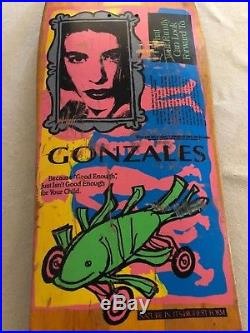 Vintage Blind Mark Gonzales Fish Car Skateboard Deck Rare OG Gonz 90s Vision