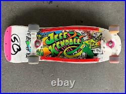 Vintage Jeff Kendall rare Graffiti skateboard deck by Santa Cruz OG- 86/87
