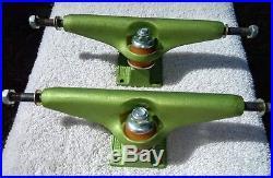 Vintage NOS Green Anodized Stage V 169 Independent Skateboard Trucks Rare 1980's