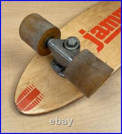 Vintage Original Wooden Inlay Skateboard Taperflex By Jammer Sport Fun II Trucks
