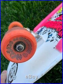 Vintage Santa Cruz Rob Roskopp Target 4 Skateboard 1980's (1987) White Dip