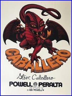 Vintage Steve Caballero Skateboard Powell Peralta Santa Cruz Bones Sims nos