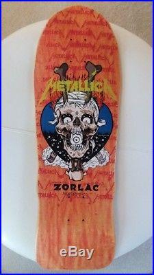 Vintage Zorlac Metallica Mega Skull Skateboard Deck Pushead 80s