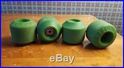 Vintage skateboard wheels Kryptonics CX-66 Double Conical Green OG old school