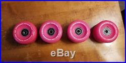 Vintage skateboard wheels NOS Powell Peralta Crossbones Pink OG 80's old school